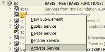 activate ABAP Development Tools service for SAP Web IDE deployment