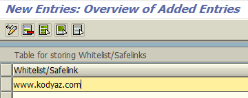 add new link to whitelist URLs for SAP Personas