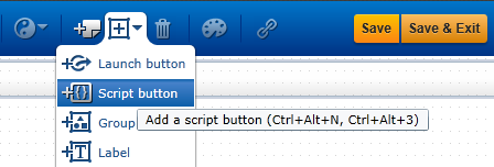 add script button to SAP Screen Personas flavor