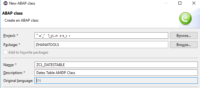 Create CDS Table Function for Dates Table using SAP HANA AMDP Class