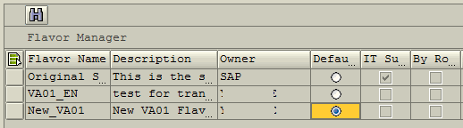 assign default flavor for SAP user in SAP Screen Personas