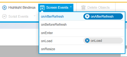 javascript assigned to onAfterRefresh SAP Screen Personas layout