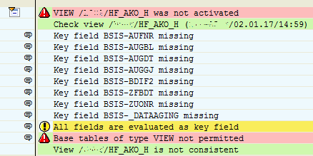base tables of type View not permitted in SAP HANA database view