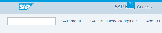 SAP OK Code field on Belize toolbar