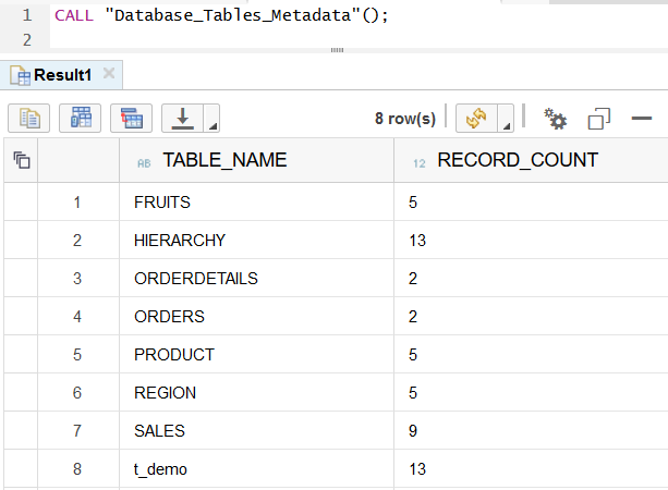 call and execute SAP HANA database procedure
