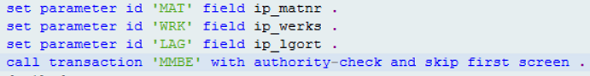 Call Transaction with Authority Check in ABAP Code ATC check