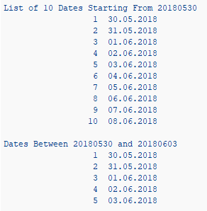 CDS dates table functions in sample ABAP program