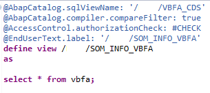 SAP CDS View for VBFA table