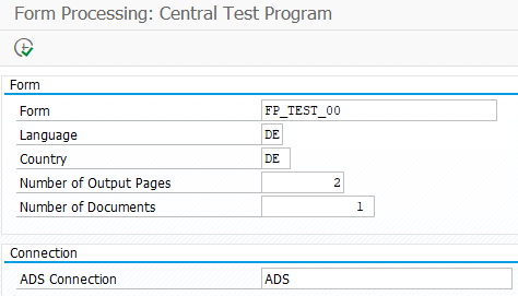 ABAP program to test ADS connection