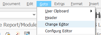 change ABAP text editor for program documentation