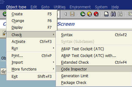 check ABAP code using SAP Code Inspector