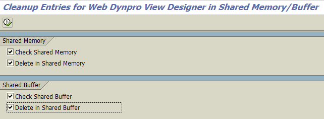 clear SAP Web Dynpro cache