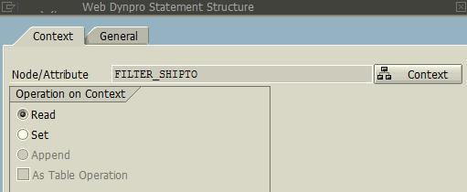 read context node using Web Dynpro Code Wizard
