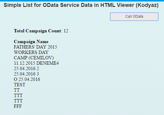 consume OData service in SAP Screen Personas script code