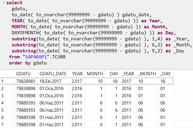 convert inverted date to ABAP date using HANA SQLScript
