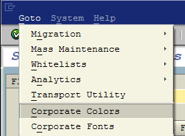 corporate colors in SAP Screen Personas Administration menu