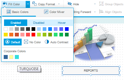 SAP Screen Personas flavor editor color palatte