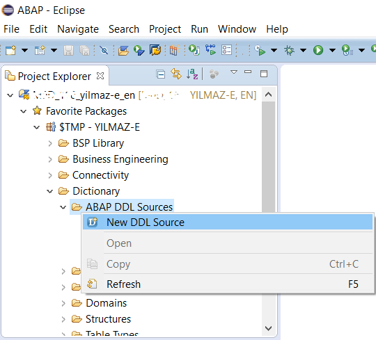 Create CDS View with Parameters for ABAP using SAP HANA Studio