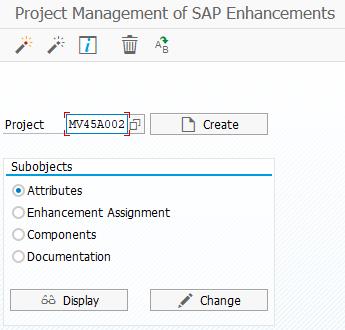 create CMOD SAP Enhancement project