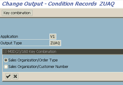 create condition records for new SAP output type