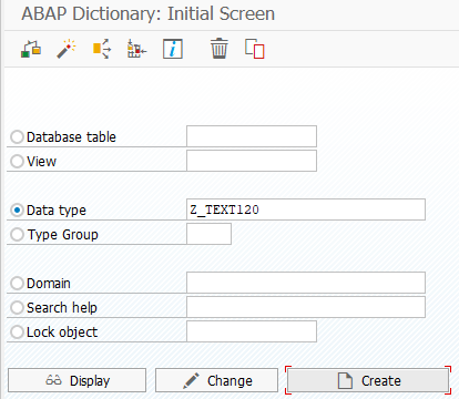create ABAP data element using SAP SE11 transaction