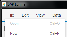 create new dataset for SAP Lumira report