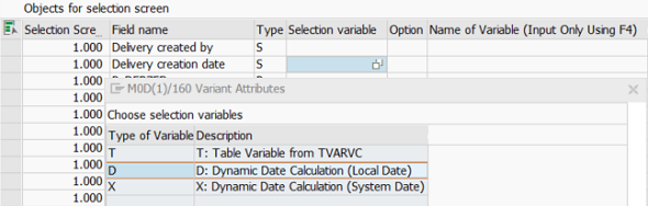 create default date range using dynamic variant