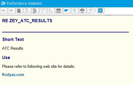 documentation for ABAP program with external link