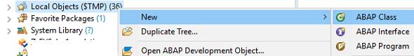 create new ABAP class for AMDP procedure in SAP HANA Studio