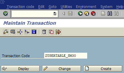 new SAP transaction code