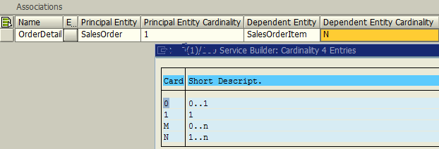 create OData entity association in ABAP using SAP SEGW transaction