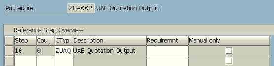 create new output procedure and requirements