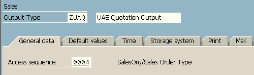 create new SAP sales output type