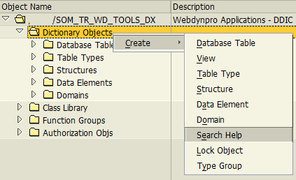 create search help in SAP