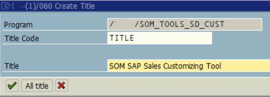create title for ABAP program