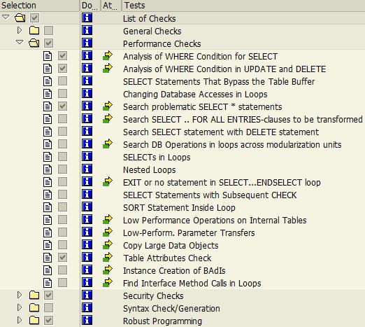 ABAP HANA migration check variant for Code Inspector