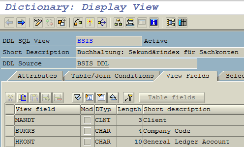 display CDS view in SAP GUI SE11 transaction
