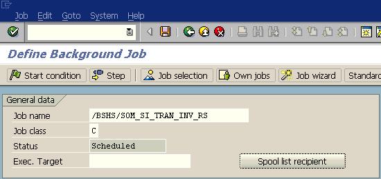 define background job in SAP using SM36