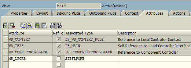 Web Dynpro Main View attributes for SIBFLPORB for ABAP class cl_fitv_gos class