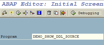 SAP ABAP program DEMO_SHOW_DDL_SOURCE to show SQL codes of CDS documents