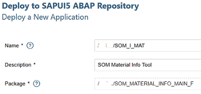 deploy SAP Web IDE application to ABAP Repository