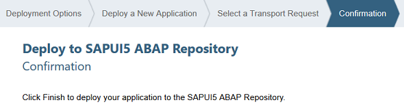 deploy to SAPUI5 ABAP repository
