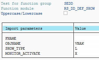 display DDIC object on SE11 tcode screen using function module in ABAP