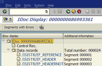 display IDoc using WE02 for export to Excel