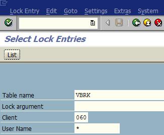 display lock entries in SAP system using SM12 transaction code