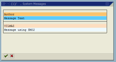 display message at user logon on SAP system