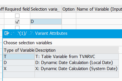 variant types for dynamic calculations