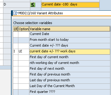 dynamic variant date calculation configuration