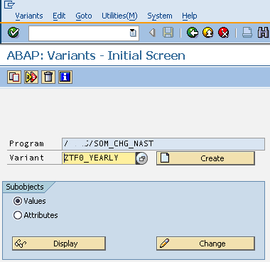 choose variant name for ABAP report