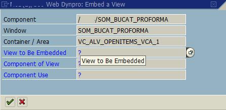 embed a view in WebDynpro window